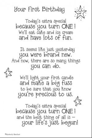 First Birthday Poem