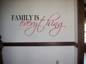 Vinyl Wall Lettering Family Everything Quotes Decal