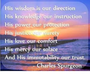 God's wisdom. Quote by Spurgeon
