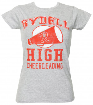 ladies grease rydell high cheerleading t shirt cheer t shirt