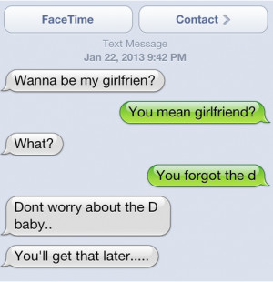 Tags Girlfriend , Text Messages | Permalink |