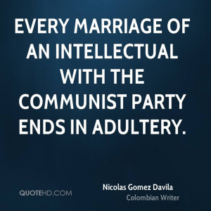 ... marriage of an intellectual with the communist party ends in adultery
