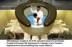 Mormon Baptism Immersion Why Mormonism Pictures