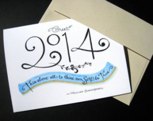 2014 Custom Graduation Card. Shakes peare Quote. Calligraphy Card - To ...