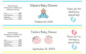 Details about Baby Shower Water Bottle Labels Party Favors Cute!