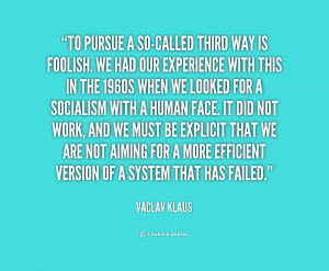 Vaclav Klaus Quotes