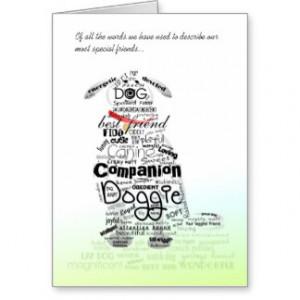 Dog Sympathy Card - Off all the Words