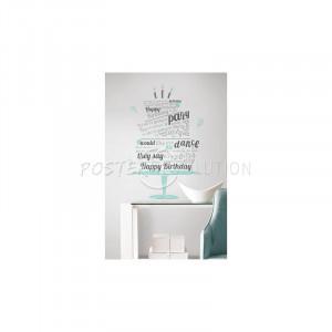 Happy Birthday Beatles Quote Peel & Stick Wall Decals