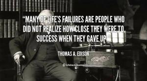 Thomas Edison Quotes Failure