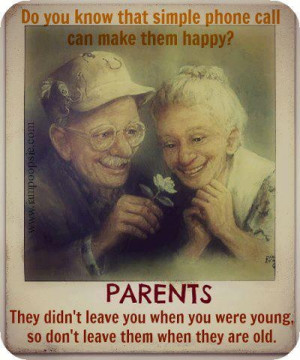 REMEMBER YOUR AGING PARENTS