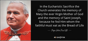 In the Eucharistic Sacrifice the Church venerates the memory of Mary ...