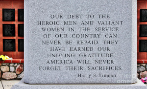 Harry S Truman Quote Memorial Photograph