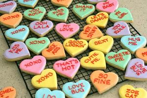 conversation heart cookies 2