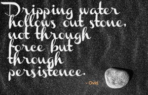 Dripping Water Hollows Out Stone Not Through Force But Through ...