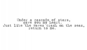 Cascade of stars