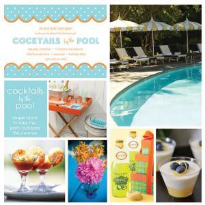... was a patio party , and today…..you guessed it! It's a pool party