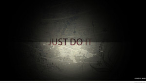 Just do it nike motivational quote wallpaper hd