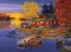 Details about Jigsaw puzzle Landscape Peaceful Evening 500 pc NIB