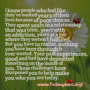 know people who feel like they've wasted years