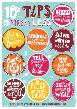 10 Wonderful Tips to Stress Less: Share something that makes you laugh ...