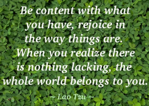 Contentment Leads to Happiness