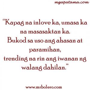 Banat Tagalog Quotes