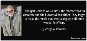 thought Godzilla was a mess, the monster had no character and the ...