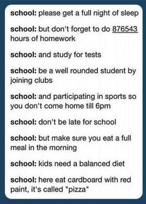 Lol so true! Oh school!