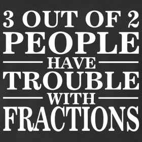 Design ~ Trouble With Fractions Math Saying TShirt