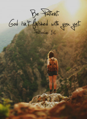When you are tempted to get discouraged, remind yourself that ...