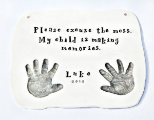 Baby baby gift handprint and Quote plaque Mold included. $68.00, via ...