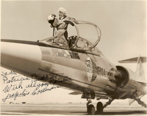 ... below of famed aviatrix Jacqueline Cochran pictured with the F-104
