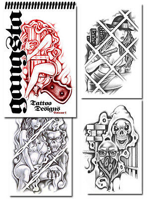 gangster chicano tattoos letters Tattoo Supplies reference book...