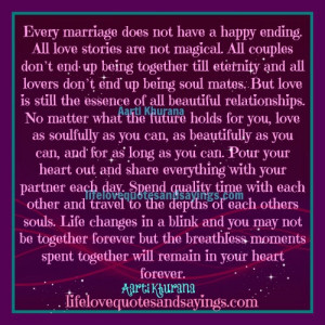 ... happy ending all love stories are not magical all couples don t end up