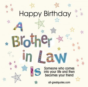 Free Birthday Cards For Brother In Law - Happy Birthday