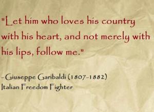 Giuseppe Garibaldi Quotes Giuseppe garibaldi quote italian freedom ...