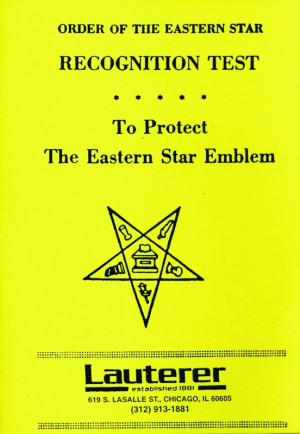 Eastern Star Recognition Test