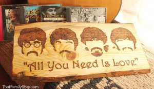... Valentine All You Need is Love Song Quote by HomenStead, $50.00