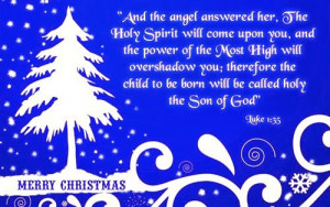 And the angell answered her. The holy spirit will come upoon yooum ...