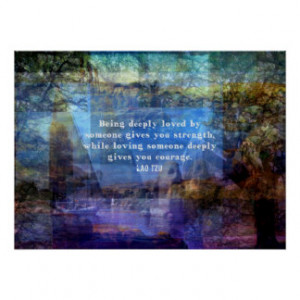 Lao Tzu Quote about courage Print