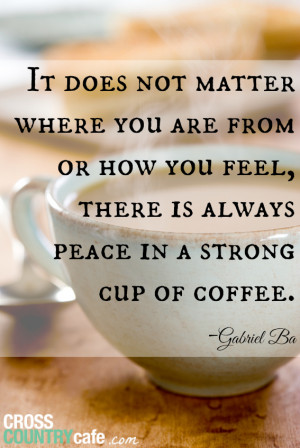 Take Some Time to Stop and Smell the...Coffee!