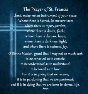 st francis of assisi the prayer of st francis lord make december 4 ...