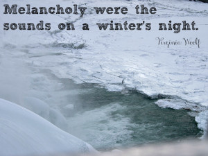 Virginia Woolf quote about winter