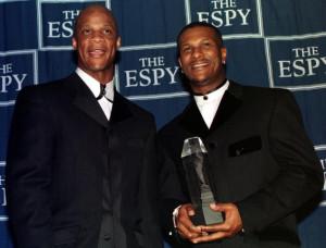 Eric davis honored at the 1999 ESPY Awards