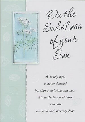 sympathy quotes loss of son
