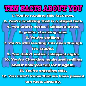 10 Funny Facts About YOU!!