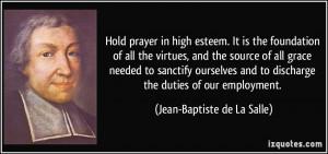 Jean-Baptiste de La Salle Quote