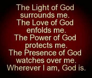 The power of god protects me