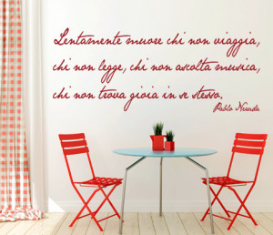 Quotes In Spanish Wall Stickers Pablo Neruda