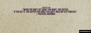 Peaceful Warrior Quote Facebook Cover